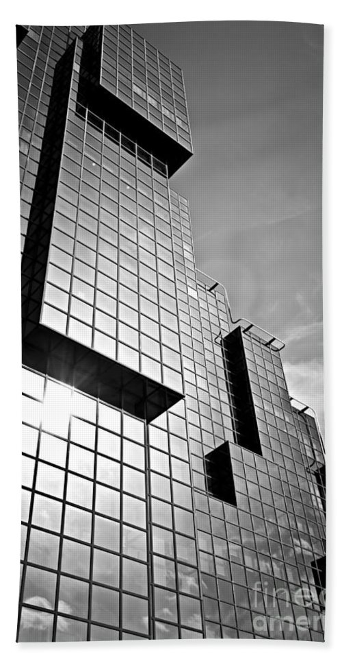 Building Bath Sheet featuring the photograph Modern Glass Building by Elena Elisseeva