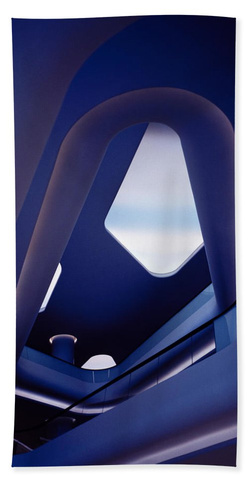 Futurism Hand Towel featuring the photograph Modern Serenity by Shaun Higson