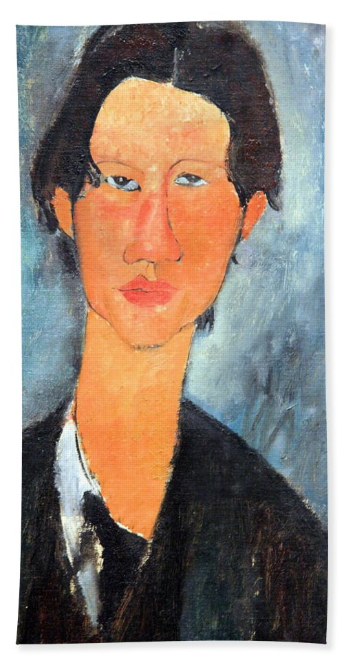 Chaim Soutine Bath Sheet featuring the photograph Modigliani's Chaim Soutine Up Close by Cora Wandel