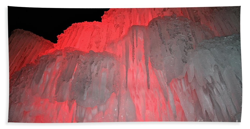 Ice Bath Sheet featuring the photograph Molten Cherry by Susan Herber