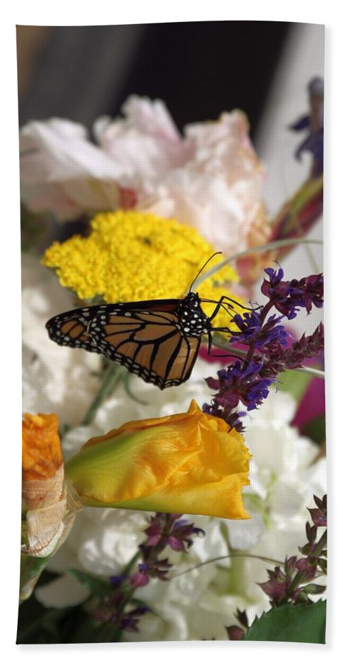 Flowers Hand Towel featuring the photograph Monarch Vertical...  # by Rob Luzier