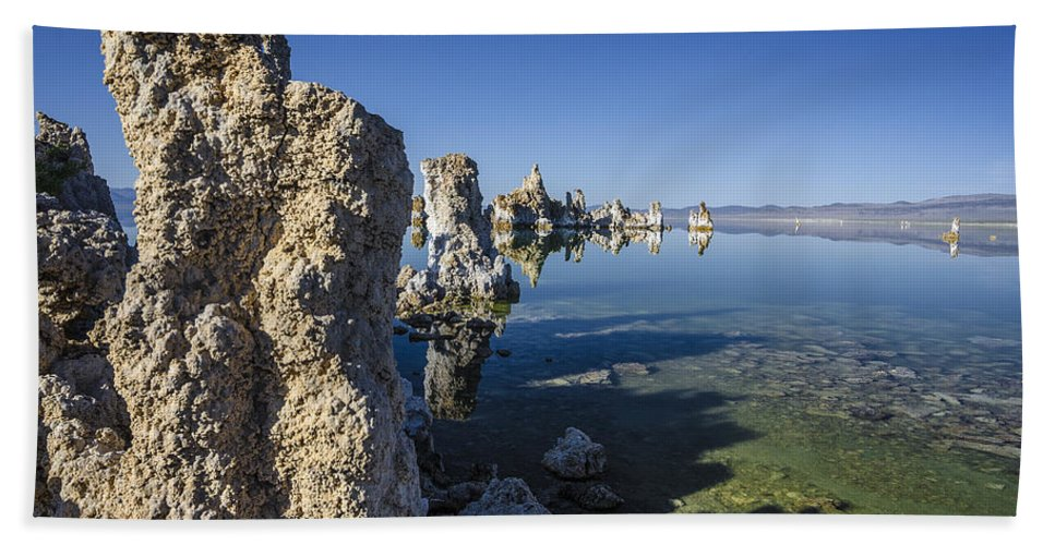 Tufa Bath Sheet featuring the photograph Mono Lake Tufas 3 by Dianne Phelps