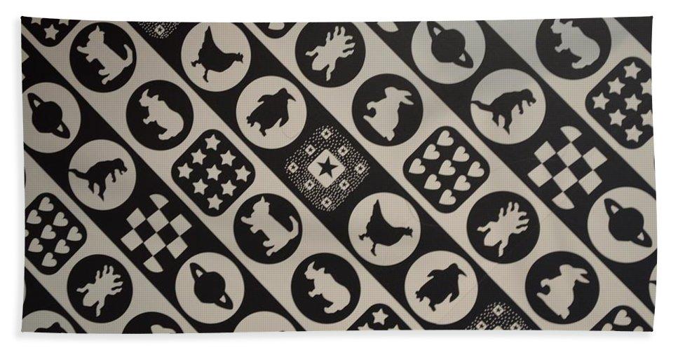 Animal Art Hand Towel featuring the photograph Monochrome Mosaic by Sonali Gangane