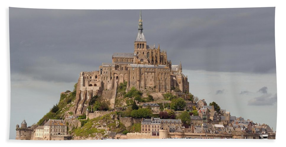 Mont St Michel Bath Sheet featuring the photograph Mont St Michel by Wes and Dotty Weber