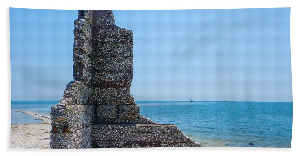 Core Sound Hand Towel featuring the photograph Monument Ruins by Paula OMalley