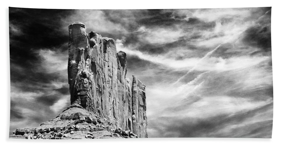 Monument Valley Bath Sheet featuring the photograph Monument Valley by Ingrid Smith-Johnsen