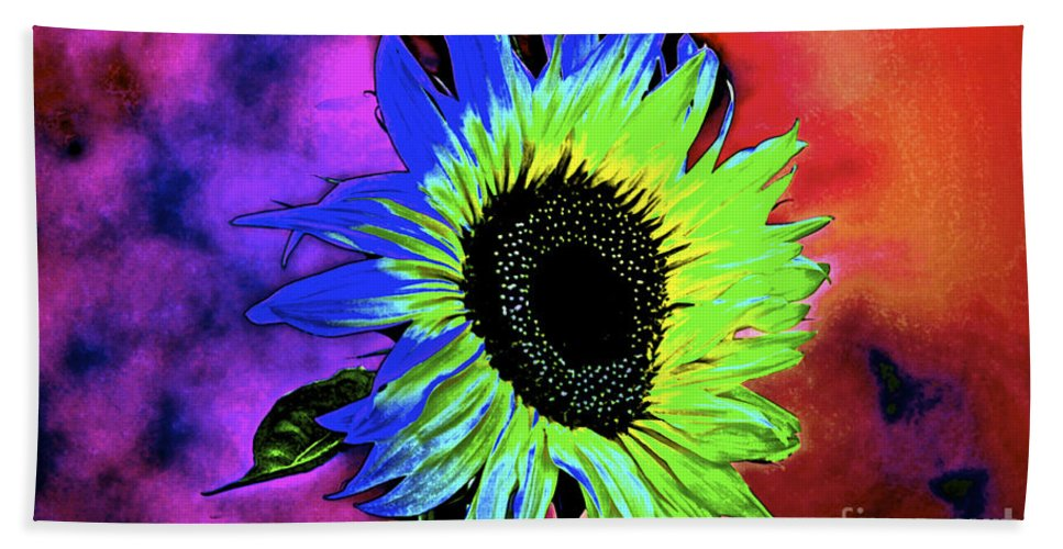 Sunflower Hand Towel featuring the photograph Moody by Gwyn Newcombe
