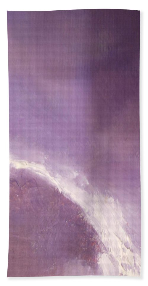 Abstract Hand Towel featuring the painting Moon Light by Lord Frederick Lyle Morris - Disabled Veteran