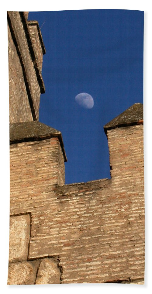 Alcazar Bath Sheet featuring the photograph Moon Over Alcazar by Michael Kirk
