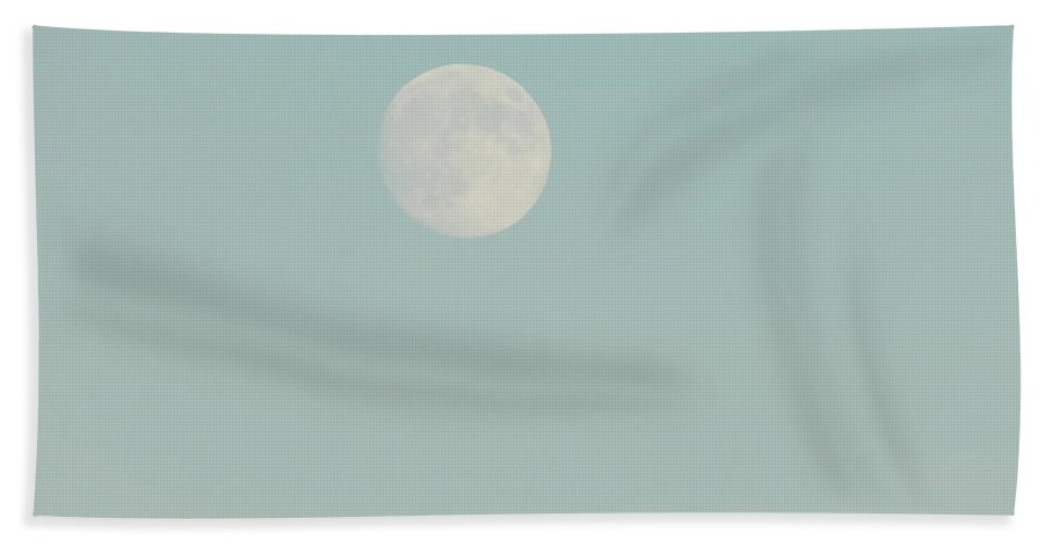 Moon Bath Sheet featuring the photograph Moon Over Torrington 1 by Nina Kindred