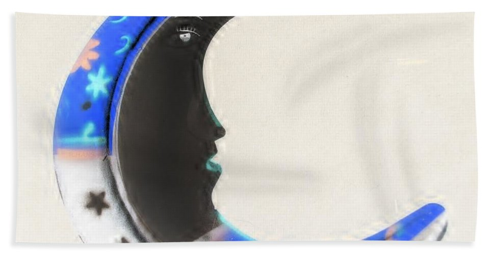Modern Hand Towel featuring the photograph Moon Phase In Inverted Colors by Rob Hans