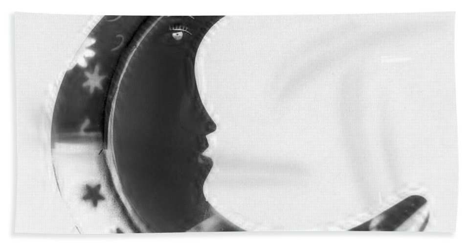 Modern Bath Sheet featuring the photograph Moon Phase In Negative by Rob Hans