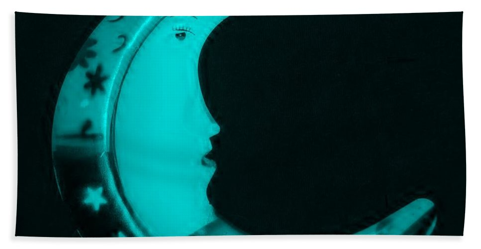 Modern Bath Sheet featuring the photograph Moon Phase In Turquois by Rob Hans