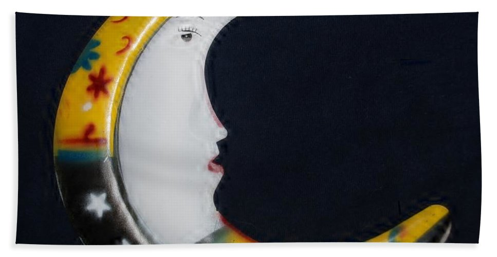 Modern Hand Towel featuring the photograph Moon Phase by Rob Hans