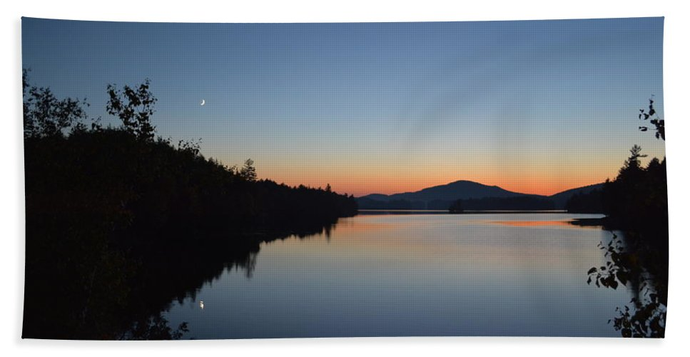 Sunset Bath Sheet featuring the photograph Moon Rise by Thomas Phillips