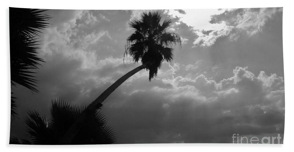 Keri West Hand Towel featuring the photograph Moonlit Palm by Keri West