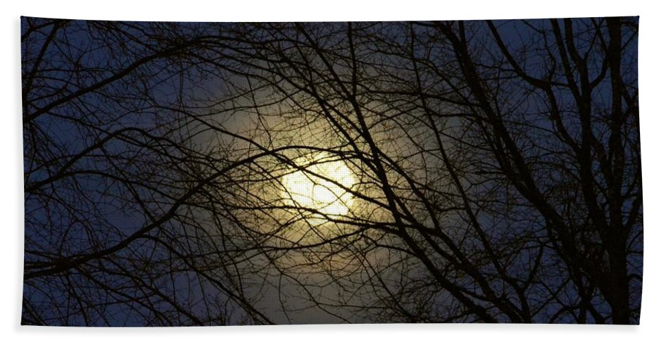 Moonshine Hand Towel featuring the photograph Moonshine by Maria Urso