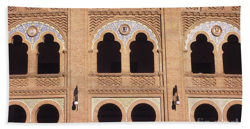 Spain Hand Towel featuring the photograph Moorish Arches Madrid by James Brunker