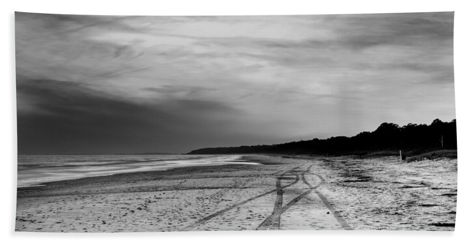 Beach Bath Sheet featuring the photograph More Beach Tracks by Phill Doherty