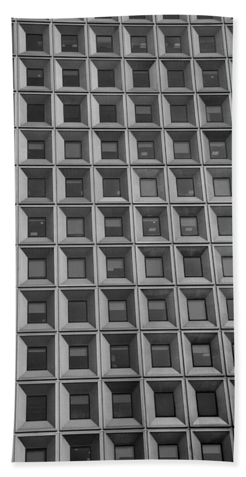 Abstract Hand Towel featuring the photograph More Windows In Black And White by Rob Hans