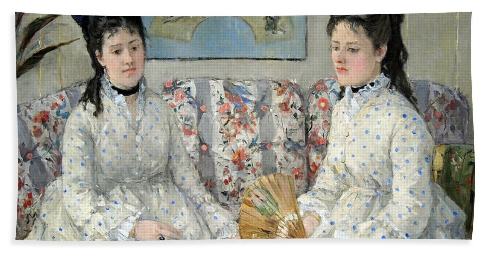The Bath Sheet featuring the photograph Morisot's The Sisters by Cora Wandel