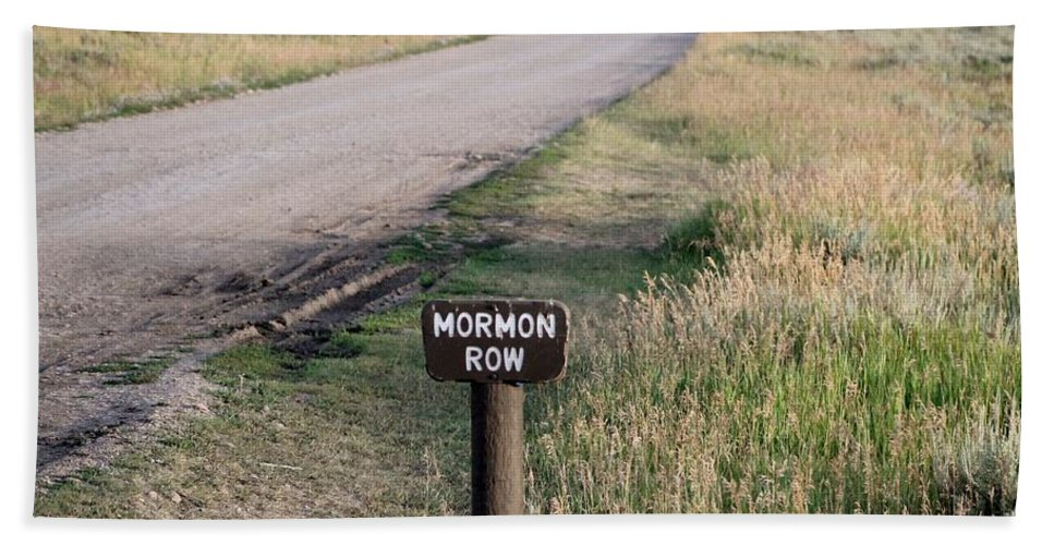 Dirt Road Bath Sheet featuring the photograph Mormon Row by Catie Canetti
