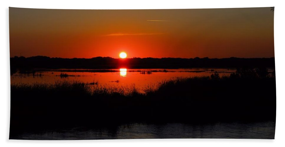 Marsh Bath Sheet featuring the photograph Morning At The Marsh by Bonfire Photography