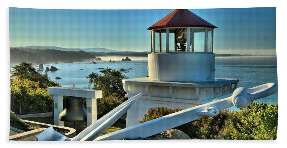 Trinidad California Bath Sheet featuring the photograph Morning At Trinidad Light by Adam Jewell