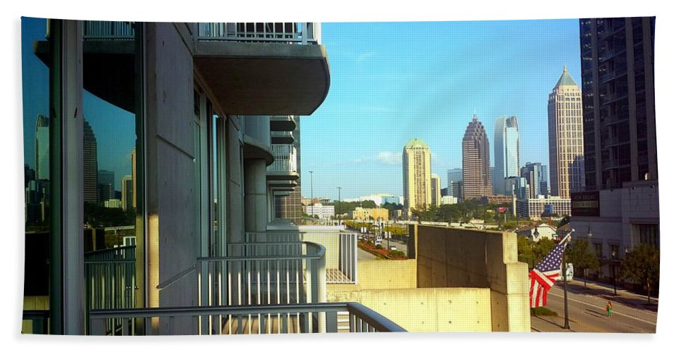Cityscape Bath Sheet featuring the photograph Morning Atlantic Station by Kenny Glover