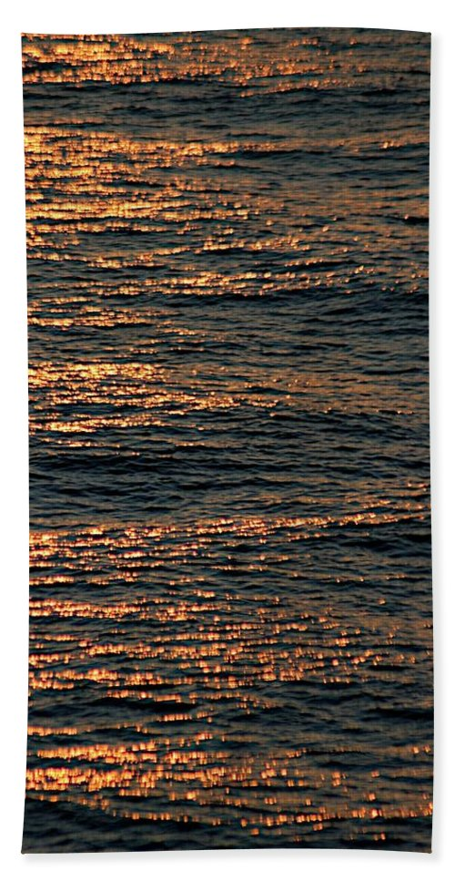 Adriatic Sea Hand Towel featuring the photograph Morning Becomes by Joseph Yarbrough