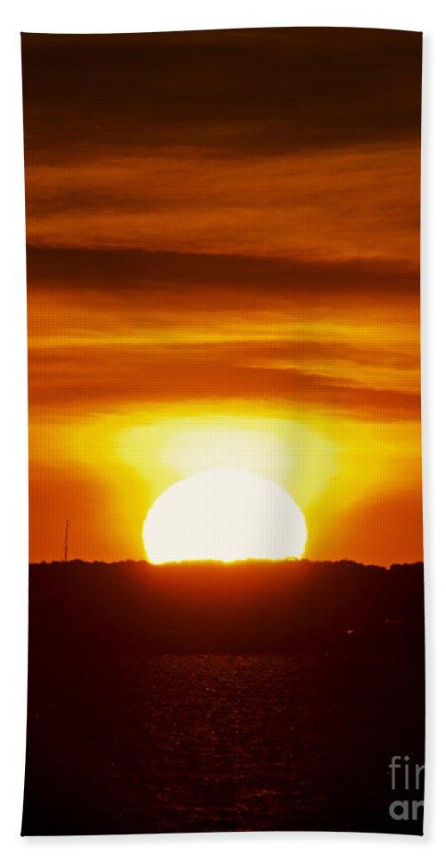 Sun Bath Sheet featuring the photograph Morning Blaze by Joe Geraci