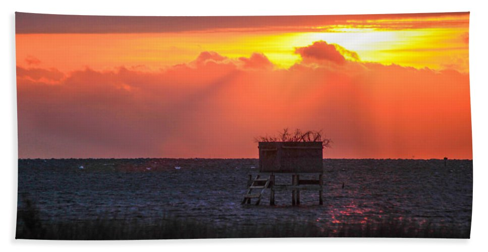 Stacy Hand Towel featuring the photograph Morning Blind by Paula OMalley