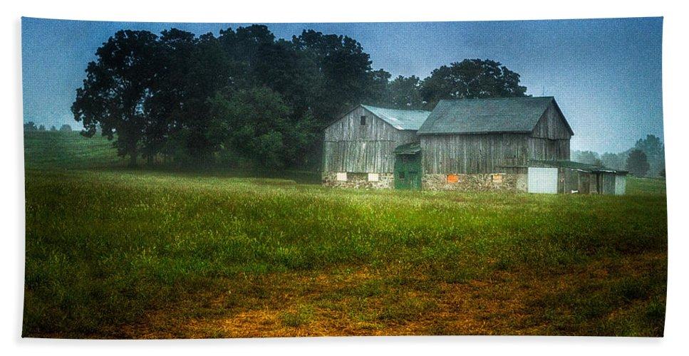 Farm Bath Sheet featuring the photograph Morning Chores by Garvin Hunter