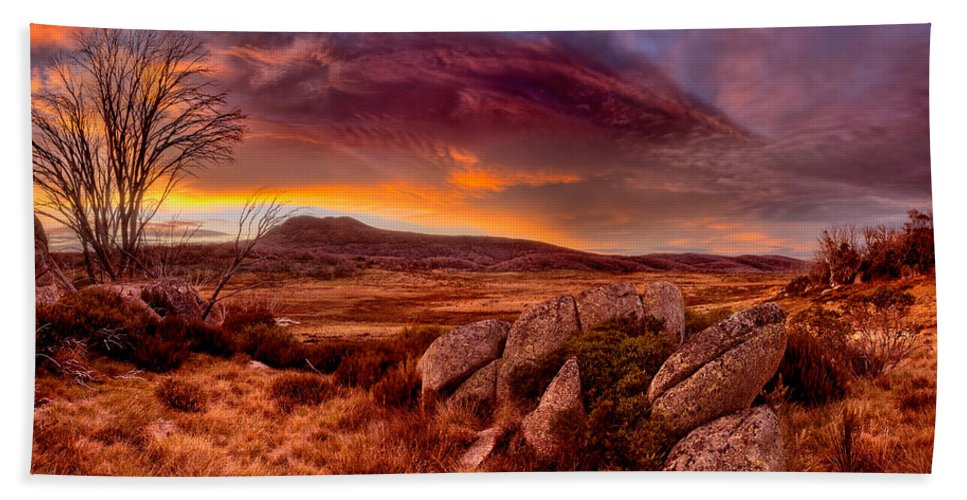 2013 Bath Sheet featuring the photograph Morning Clouds Over Jugungal by Robert Charity