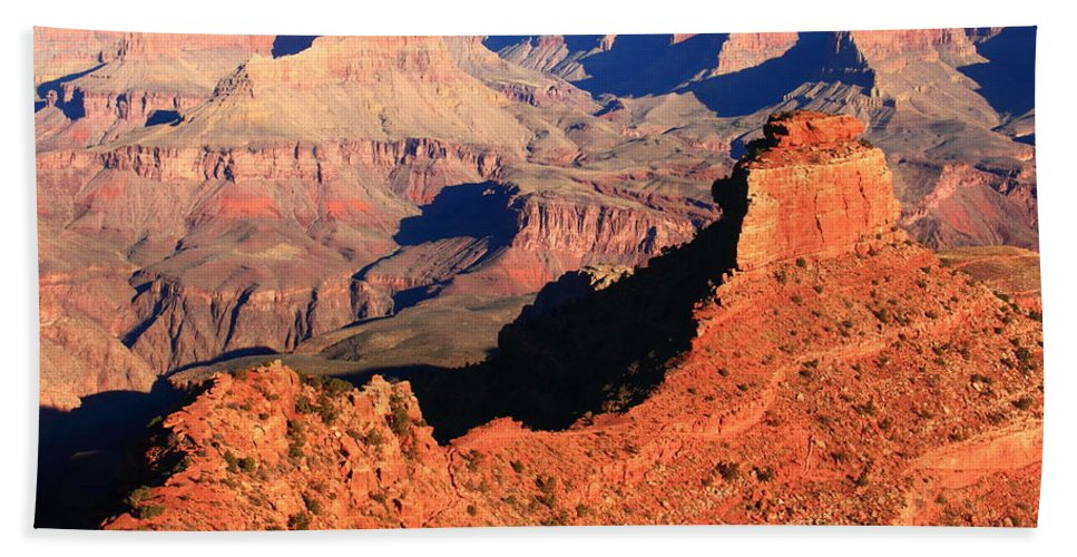 Morning Hand Towel featuring the photograph Morning Colors Grand Canyon by Roupen Baker
