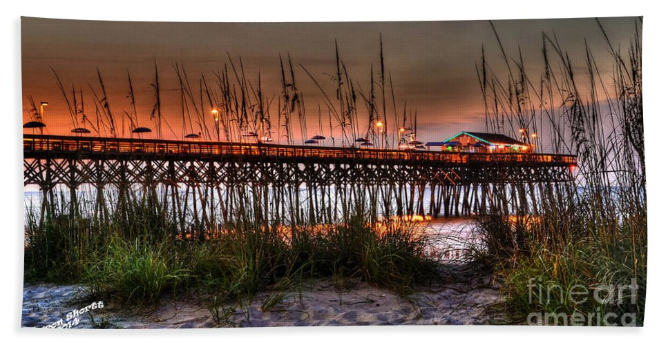 Pier Hand Towel featuring the photograph Morning Glow by Aaron Shortt