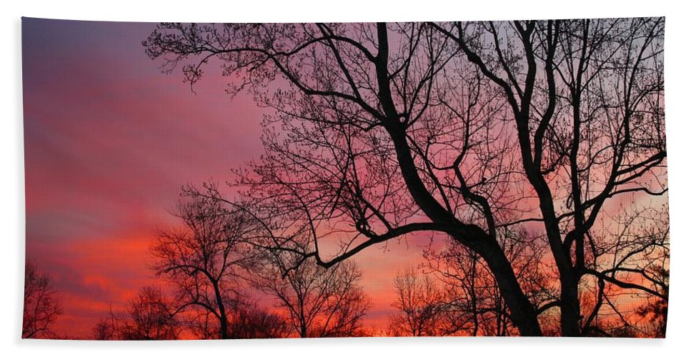 Sunrise Bath Sheet featuring the photograph Morning Has Broken by Kathryn Meyer