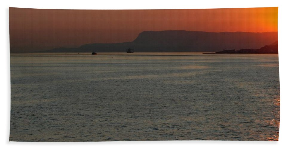 Italy Hand Towel featuring the photograph Morning Messina by Joseph Yarbrough