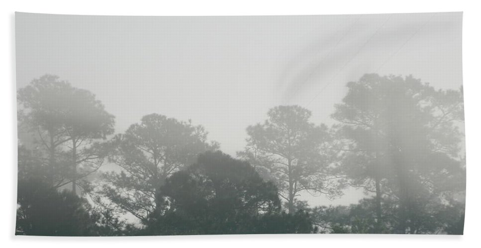 Morning Bath Sheet featuring the photograph Morning Mist 4 by George Pedro