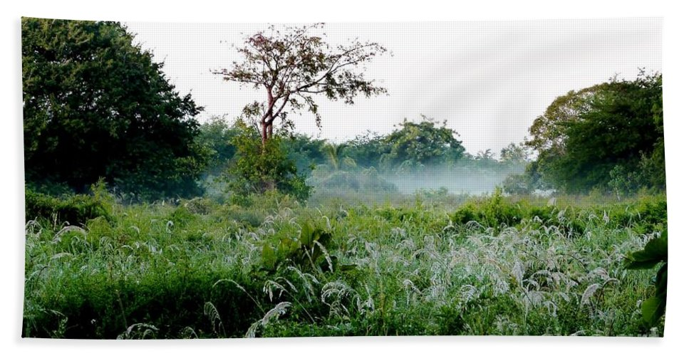 Morning Mist Bath Sheet featuring the photograph Morning Mist by Amar Sheow