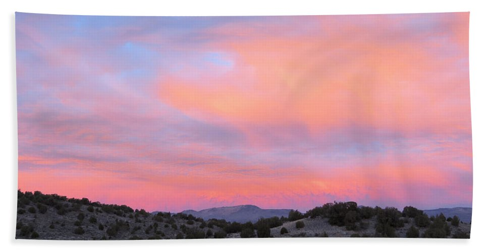 Sunrise Hand Towel featuring the photograph Morning Paints by Darcy Tate