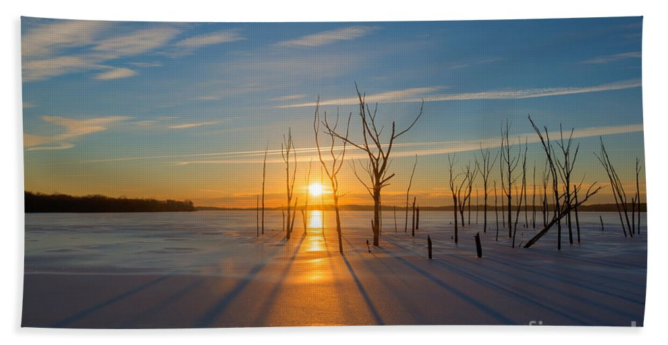 Frost Bite Hand Towel featuring the photograph Morning Stretch by Michael Ver Sprill