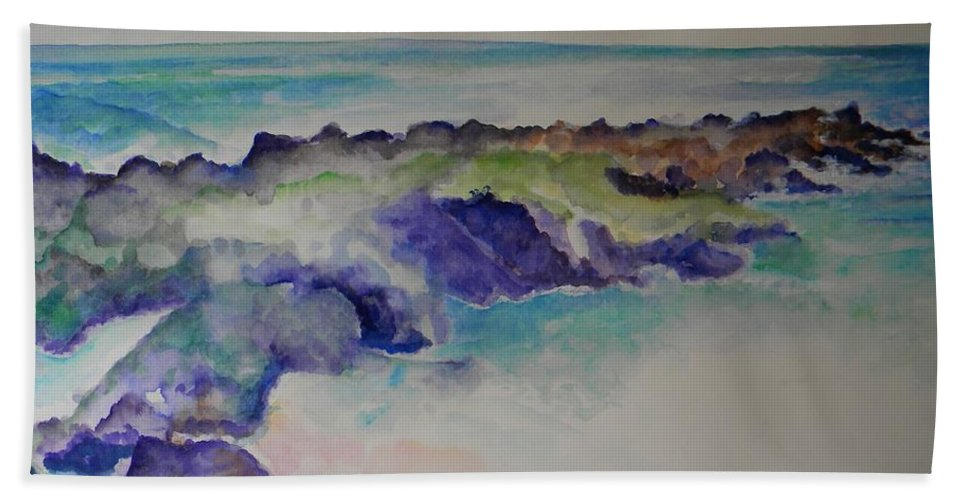 Beach Bath Sheet featuring the painting Morning Surf by Sandy Ryan