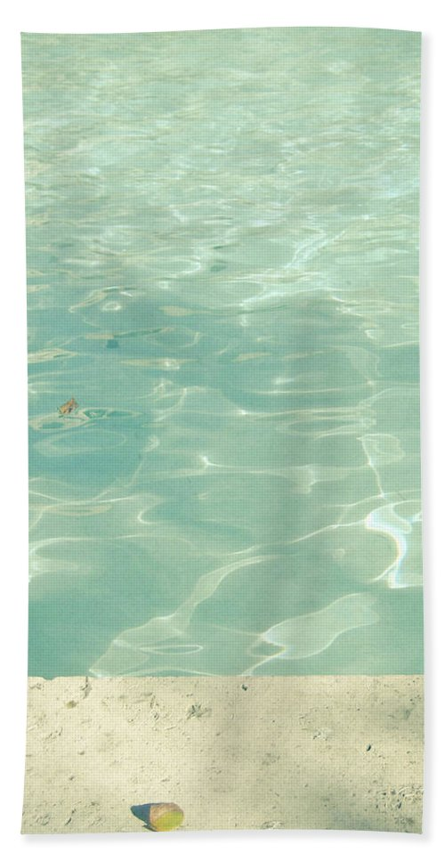 Swimming Pool Hand Towel featuring the photograph Morning Swim by Cassia Beck