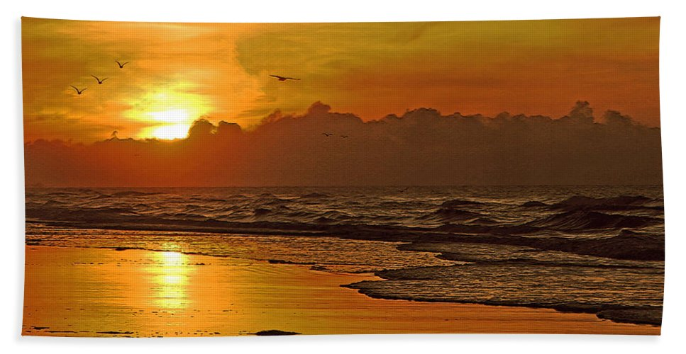 Sunrise Bath Sheet featuring the photograph Morning Tide by Lydia Holly