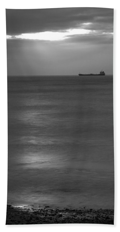 Kingsdown Hand Towel featuring the photograph Morning View From Kingsdown by Ian Middleton