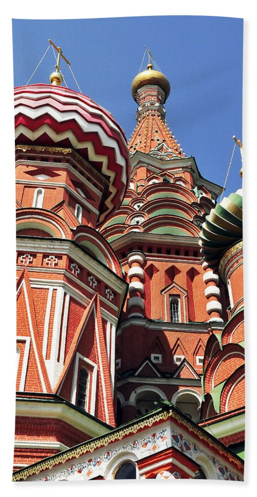 Architecture Hand Towel featuring the photograph Moscow13 by Svetlana Sewell
