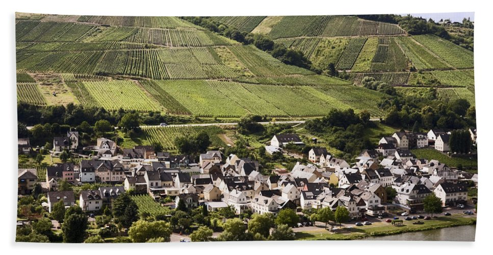 Wine Village Bath Sheet featuring the photograph Mosel Wine Village by Sally Weigand