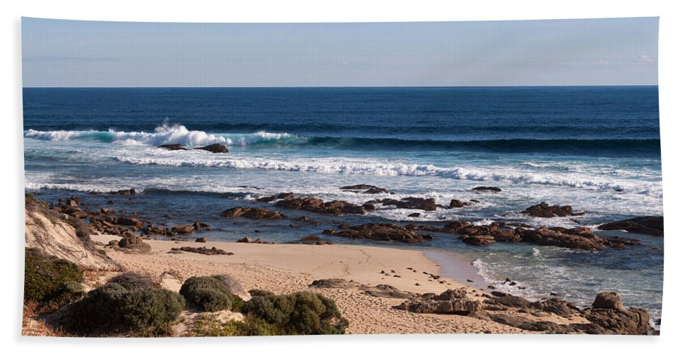 Australia Bath Sheet featuring the photograph Moses Rock Beach 01 by Rick Piper Photography