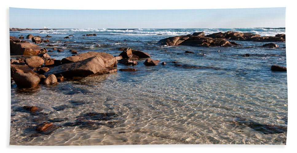 Australia Bath Sheet featuring the photograph Moses Rock Beach 04 by Rick Piper Photography